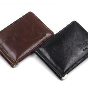 Зажим для денег с карманом